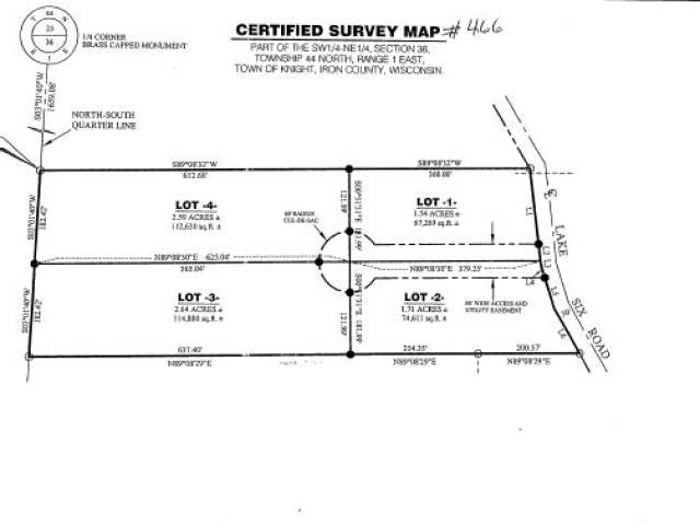 Heavely wooded 8.48 acre lot near Lake Six in Bear Country. There are 4 lots being sold together. The driveway is in, The lots have been surveyed. There is underground power and phone. Nice private lot that would make a great hunting camp.
