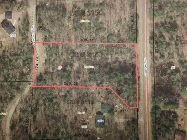 Country lot just outside of town with 1.72 acres of wooded land on Germond Rd. Perfect property to build your Northwoods dream home or cabin. Protective covenants to help keep your investment and the neighborhood well maintained. The property is only a couple miles outside of town so you are close to the schools, hospitals and shopping but still far enough in the country to be able to escape it all. Close to many lakes, trails and other recreational activities.