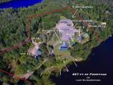 This is an Investor's Alert! Dream of owning a large income-producing property or flip on Shishebogama Lake in Minocqua, WI! The famous Back Bay Inn Restaurant and Condominiums are being offered with 667ft+/- of water frontage and 9.75 acres. The entire establishment is for sale including 5 detached homes, 3 buildable condo lots, a large 7 unit duplex, 10 detached garage stalls and a large restaurant with incredible views of the lake. The majority of these structures have new roofs and all are zoned for short term rentals. These properties have SE exposure granting you beautiful sunrises overlooking one of the large Islands on the Shishebogama Chain that includes Gunlock Lake.