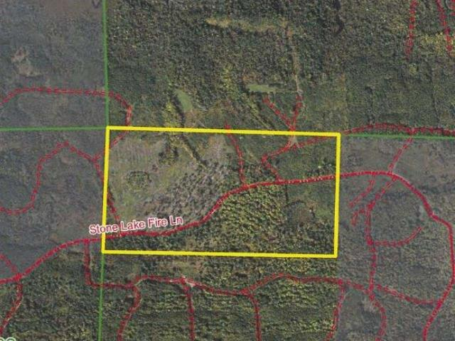 Minocqua Acreage, 80 acres of great hunting and recreational land on Stone Lake Fire Ln. Located west of Minocqua this property is in the heart of the Northwood's. Mostly Aspen and Pine makes up the timber on this parcel with some scattered. Good easement road access on Stone Lake Fire Ln Close to some of the state's premier lakes, ATV and snowmobile trails, silent sports trails/park (Winter Park), and so much more. This is great recreational property with excellent habitat for white tail, grouse, turkey, etc. Enrolled in MLF Open to keep the taxes low, but don't worry as new legislation makes this DNR program more land owner friendly. Ask an agent for additional information.