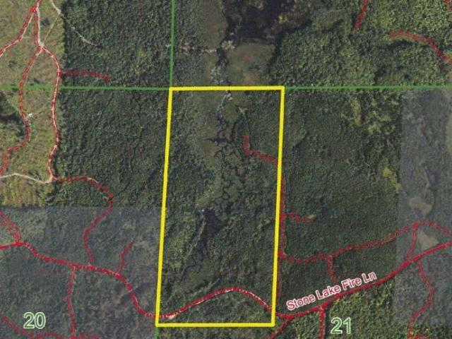 80 acres of prime hunting and recreational land Near Minocqua, WI on Stone Lake Fire Ln. Located west of Minocqua this property is in the heart of the Northwood's and has direct access to the snowmobile trails. Nice mix of wooded upland and some lowland with a creek running through part of the land. Close to some of the state's premier lakes, ATV and snowmobile trails, silent sports trails/park (Winter Park), and so much more. This is great recreational property with excellent habitat for white tail, grouse, turkey, etc. Enrolled in MLF Open to keep the taxes low, but don't worry as new legislation makes this DNR program more land owner friendly. Ask an agent for additional information.