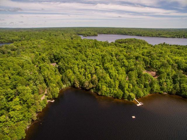 Enjoy peace, tranquility, privacy, and most importantly... excellent musky fishing on this gorgeous 5.32 acre lot with 309 feet of frontage on the private (no public access) Armour Lake. The south-facing frontage has crystal clear water with a sand bottom--great for swimming and fishing! Armour Lake is one of the best, if not the best lake in the area for musky fishing, in both size and quantity and is a great lake for walleye and smallmouth bass as well. Snowmobilers will have easy access to the trail less than a mile away on CTH B. Downtown Presque Isle is a short, couple-minute driveaway! A level, grassy area has already been cleared for the construction of your new dream home!