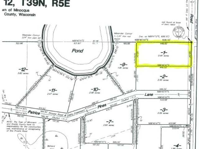 Forested two acre building site just waiting for your home or cabin. Fully surveyed, clear title forested lot on Blacktop town road, 4 minutes from medical, shopping, school, high speed internet service, natural gas and easy year round access. Driveway is being put in and building site is being created. Come with your dream building plans! Price and value. This is a great opportunity any way you look at it.