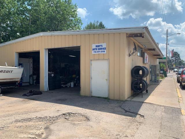40X60 Steel building located directly downtown Lake Tomahawk. Snowmobile and bike trials running behind the building offer excellent exposure. 11-inch concrete floors to support your equipment. New furnace, natural gas fuel, drilled well and city sewer. Excellent value for the price.