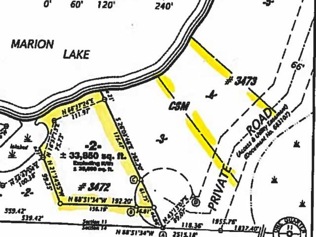 Marion Lake lot picture